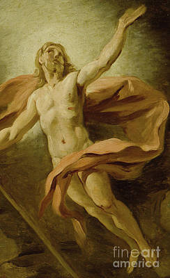 Resurrecting Painting - The Resurrection, 1739  by Jean Francois de Troy