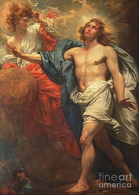 Resurrecting Painting - The Resurrection  by Benjamin West