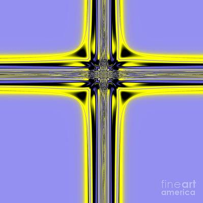 Digital Art - The Resurrection Cross Fractal 62 by Rose Santuci-Sofranko