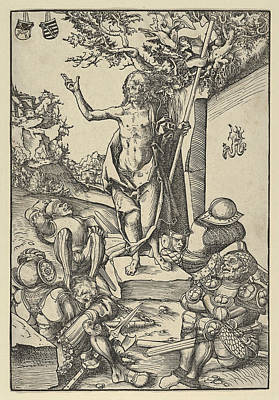 Resurrection Drawing - The Resurrection From The Passion by Lucas Cranach the Elder