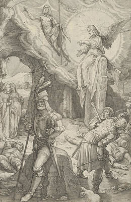 Relief - The Resurrection, From The Passion Of Christ by Hendrik Goltzius