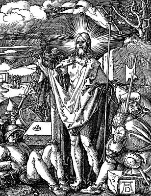 Printmaking Drawing - The Resurrection, From The Small Passion by Albrecht Durer