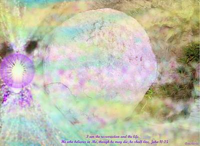 Art Print featuring the photograph The Resurrection Horizon Event-no Rock Could Hold Him In Garden Tomb Vision Jerusalem 2008 by Anastasia Savage Ealy