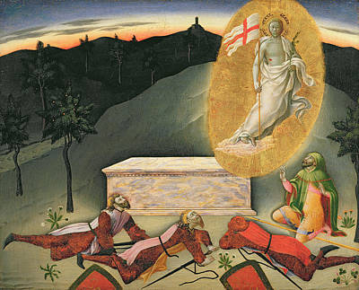 Sepulchre Painting - The Resurrection by Master of the Osservanza