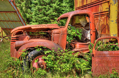 Photograph - The Retired Homestead Truck by Richard J Cassato