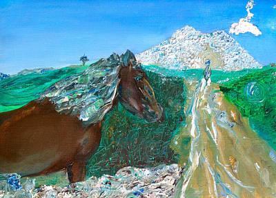 Painting - The Return / Knoknurae / Sligo Scenes by Dawn Richerson