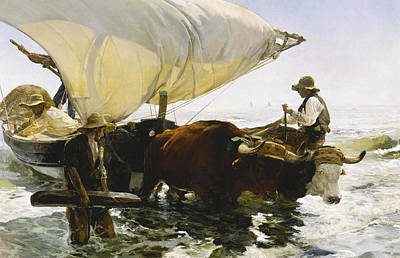 Spanish Art Painting - The Return From Fishing by Joaquin Sorolla