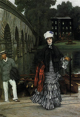 Digital Art - The Return From The Boating Trip by James Jacques Joseph Tissot