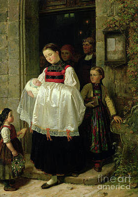 Gown Painting - The Return From The Christening by Hubert Salentin