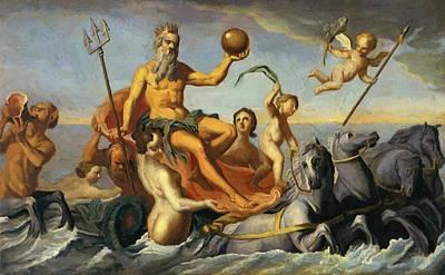 Painting - The Return Of Neptune by Copley John Singleton