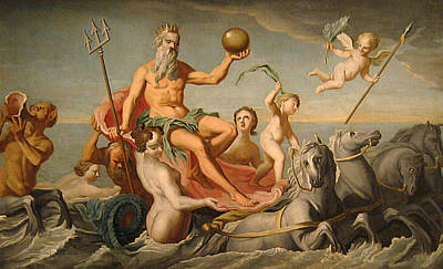 Cherubim Digital Art - The Return Of Neptune by John Copley