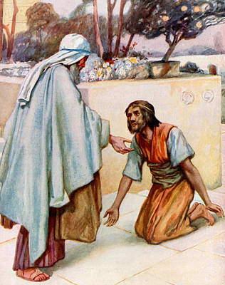 Forgive Painting - The Return Of The Prodigal Son by Arthur A Dixon