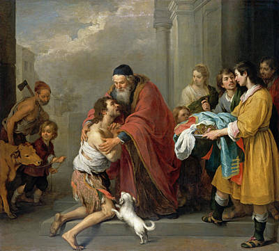 Painting - The Return Of The Prodigal Son by Bartolome Esteban Murillo
