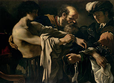 Giovanni Francesco Barbieri Painting - The Return Of The Prodigal Son by Giovanni Francesco Barbieri