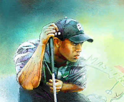 Golf Mixed Media - The Return Of The Tiger 01 - Stalking 01 by Miki De Goodaboom