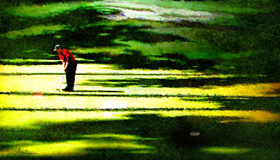 Augusta Masters Digital Art - The Return Of The Tiger 05 by Miki De Goodaboom