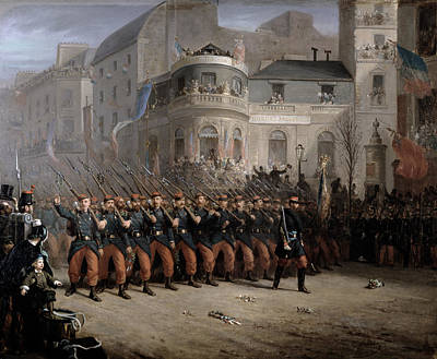 Streets Of France Painting - The Return Of The Troops To Paris From The Crimea by Emmanuel Masse