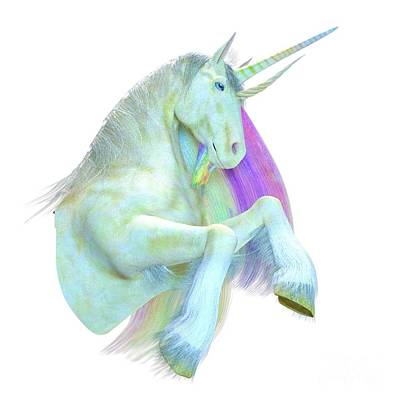 Digital Art - The Return Of The Unicorns by MAW CG Art