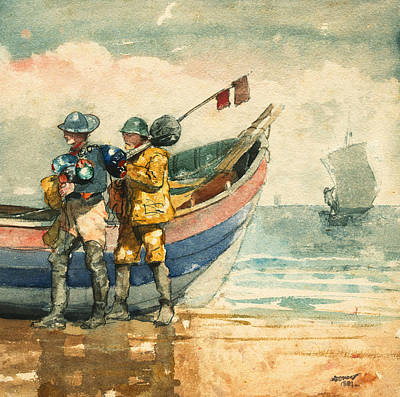 Painter Photograph - The Return Tynemouth by Winslow Homer