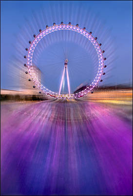 Silver Turquoise Photograph - The Revolving Eye by Adrian Campfield