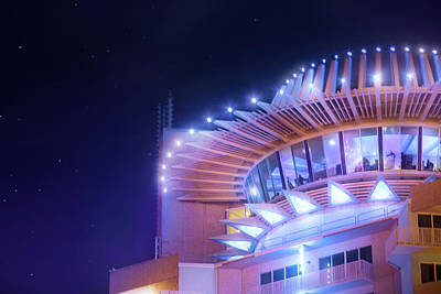 Heat Lightning Photograph - The Revolving Rooftop Lounge At Pier 66 by Mark Andrew Thomas