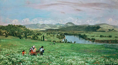 Painting - The Rhine Near Sackingen by Treasury Classics Art