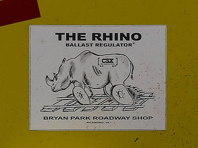 Photograph - The Rhino Ballast Regulator by Dart and Suze Humeston