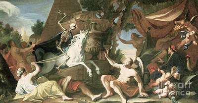 Painting - The Ride Of Death  by Johann Heiss