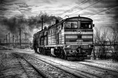 Train Mixed Media - The Ride by Zin Shades