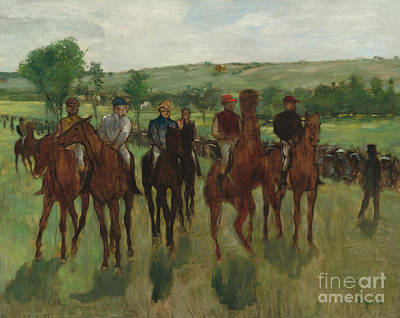 Edgar Degas Wall Art - Painting - The Riders, 1885 by Edgar Degas