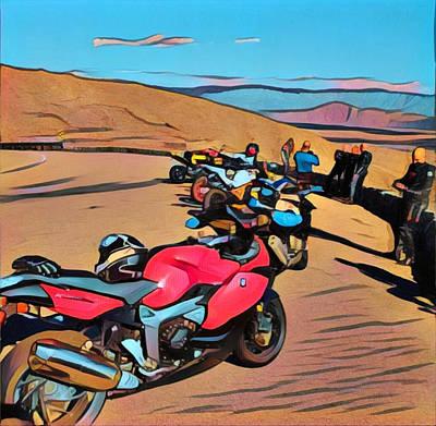 Digital Art - The Riders by Kae Art