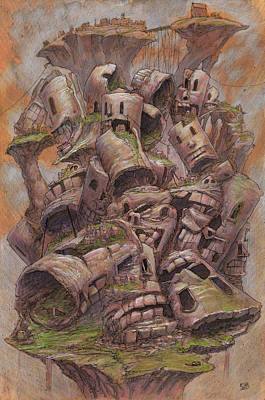 Station Mixed Media - The Ridgerest Pile by Ethan Harris