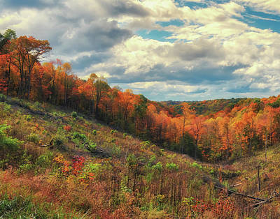 Photograph - The Ridges Of Southern Ohio In Fall by Richard Kopchock