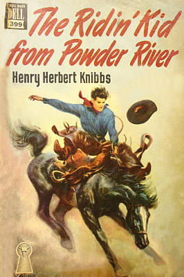 Bronc Digital Art - The Ridin Kid From Powder River by Studio Artist
