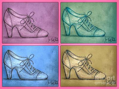 Photograph - The Right Shoe Vintage Popart by Joan-Violet Stretch