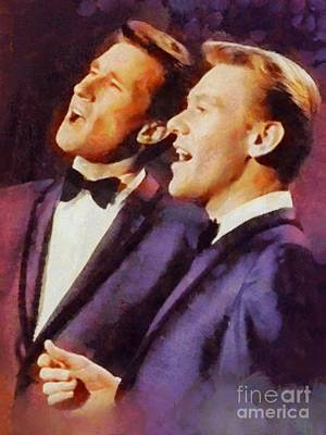 Music Paintings - The Righteous Brothers, Music Legends by Esoterica Art Agency