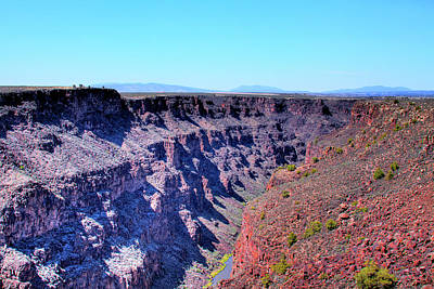 The Rio Grande Gorge Art Print by David Patterson