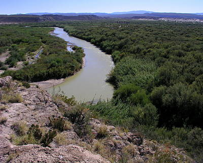 Photograph - The Rio Grande River by Karen Musick