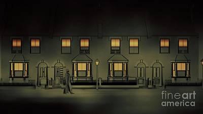 Street Lamps Digital Art - The Ripper Of Whitechapel By Rt by Raphael Terra