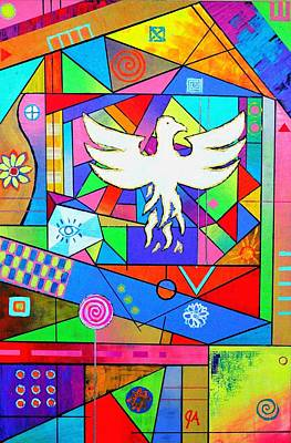 Painting - The Rise Of The Phoenix by Jeremy Aiyadurai