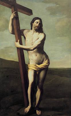 Photograph - The Risen Christ Embraced The Cross by Guido Reni