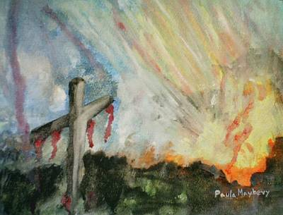 Painting - The Risen Christ by Paula Maybery