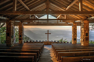 Photograph - The Risen Sun Pretty Place Chapel Greenville Sc  Great Smoky Mountains Art by Reid Callaway