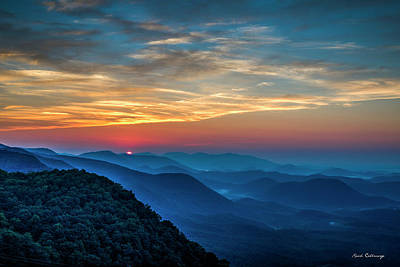Photograph - The Rising Sun Pretty Place Chapel Greenville S C Great Smoky Mountain Art by Reid Callaway