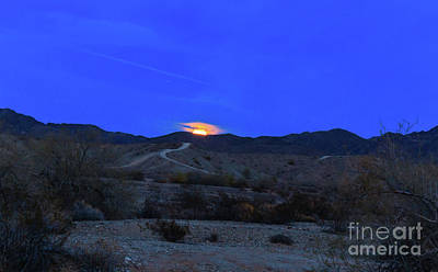 Photograph - The Rising Wolf Moon by Robert Bales