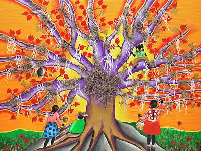 Gullah Geechee Painting - The Risk Of The Roots by Patricia Sabree