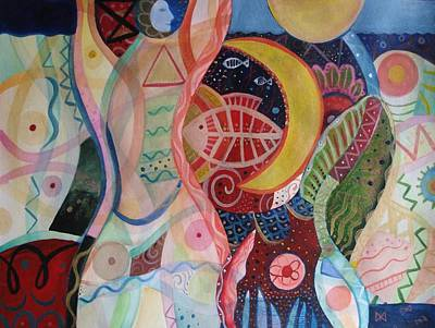 Cycles Painting - The Ritual by Helena Tiainen