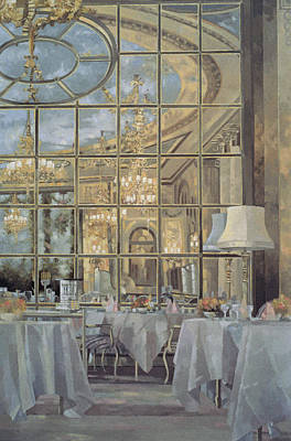 Tea Service Painting - The Ritz by Peter Miller