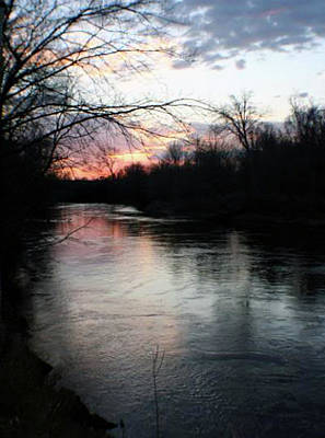 The River At Sunset Art Print
