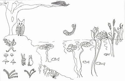 The River Bank Art Print